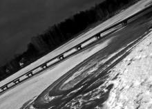 Zalew biłgorajski zimą